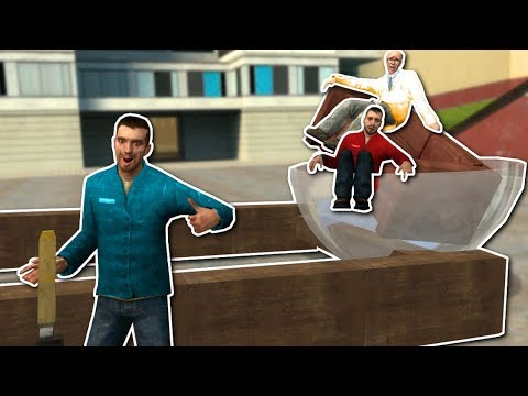 BUILDING CATAPULTS & RACE CARS! - Garrys Mod Gameplay - Gmod Sandbox Building Challenge