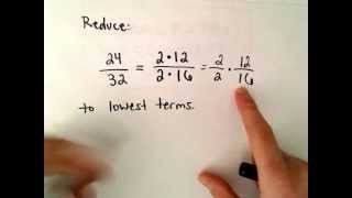 Reducing a Fraction to Lowest Terms