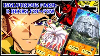 2 Decks for Inglorious Bastion Lvl. 40 Farm F2P + P2W [Yu-Gi-Oh! Duel Links]