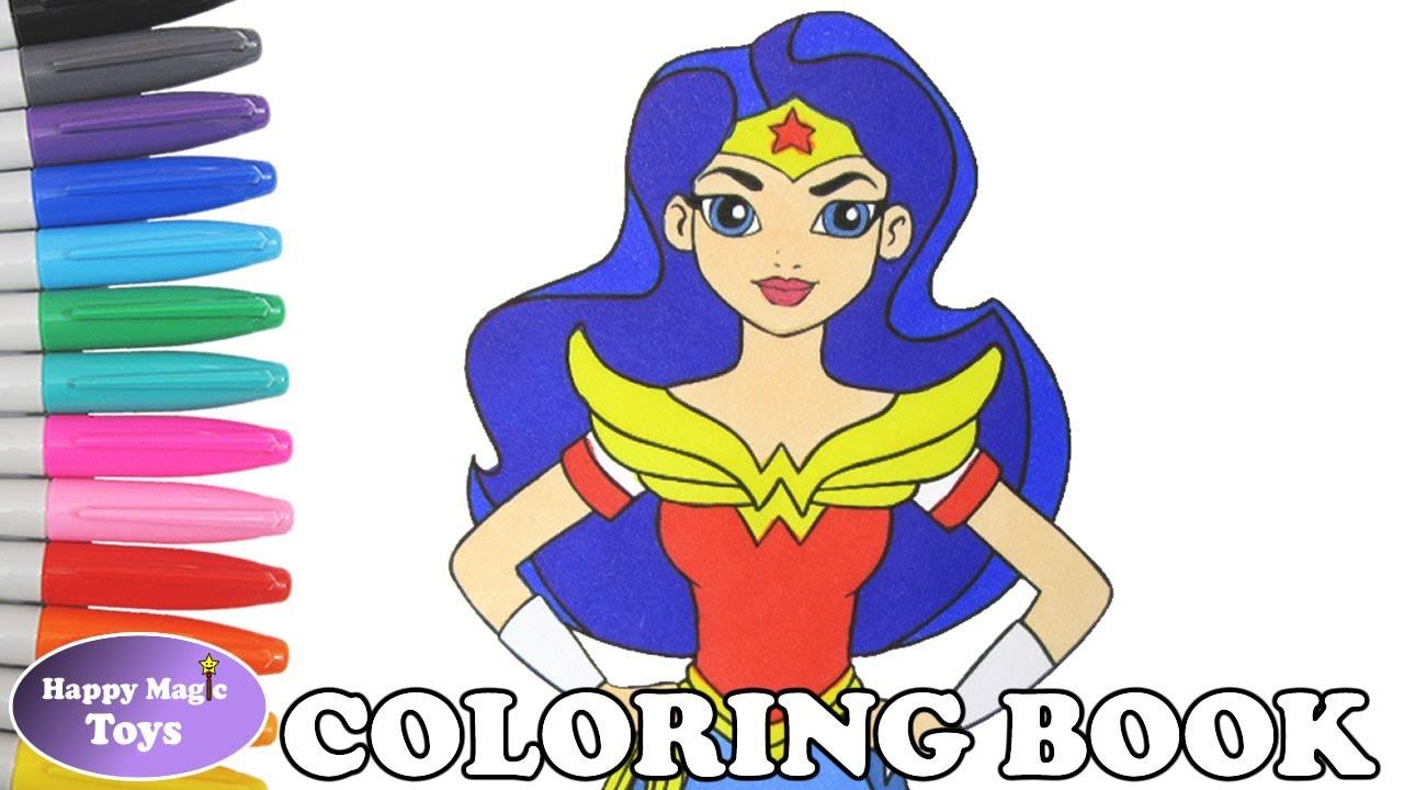 dc super hero girls wonder woman coloring book pages dc superhero