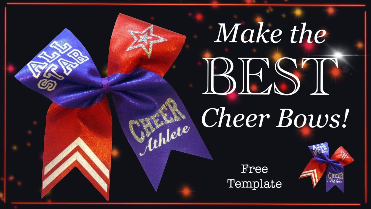 It is a graphic of Accomplished Cheer Bow Template Printable