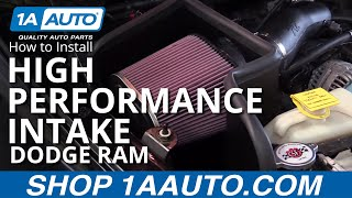 how to install high performance intake kit 2003 08 dodge ram 5 7l buy quality parts at 1aauto com