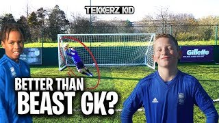9 Year Old Better Than Beast Goal Keeper??