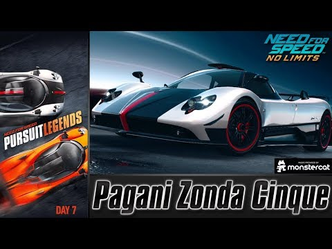 Need For Speed No Limits: Pagani Zonda Cinque | Pursuit Legends (Day 7 - Legacy)