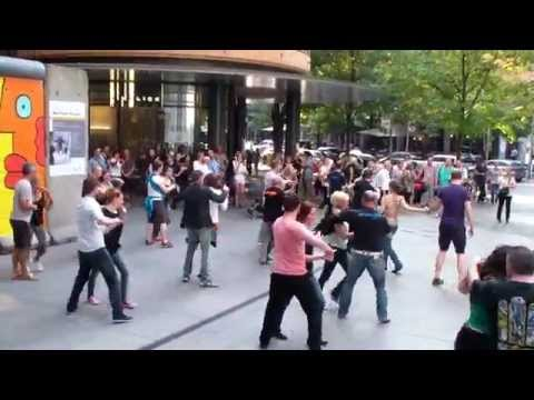 West Coast Swing International Flashmob Berlin 06.09.2014
