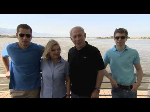 PM Netanyahu and his family tour the north of Israel