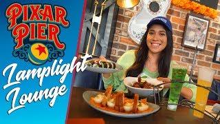 The Spectacular lamplight lounge At Pixar Pier! | Disney California Adventure