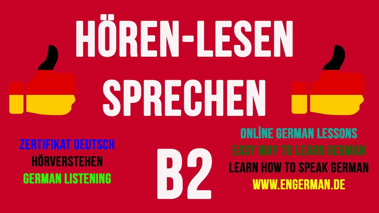 German Listening B2 Hörverstehen B2 1 Youtube