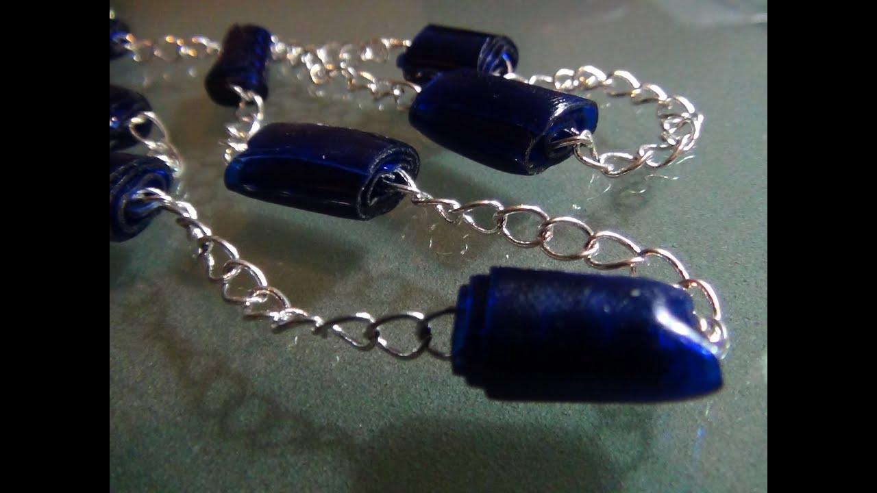Còmo hacer bisutería con cuentas de botellas de plástico , How to make  plastic bottle beads jewelry , YouTube