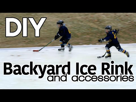 DIY Ice Rink, Hockey Goals, Skate Trainer, & Resurfacer