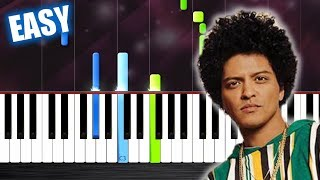Bruno Mars - Finesse - EASY Piano Tutorial by PlutaX
