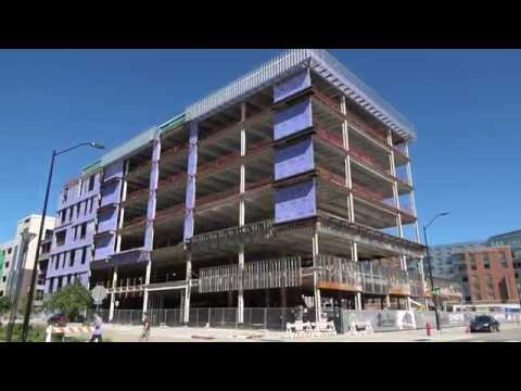 HUDL Headquarters Construction Site - West Haymarket - 4K UHD - Lincoln, Nebraska