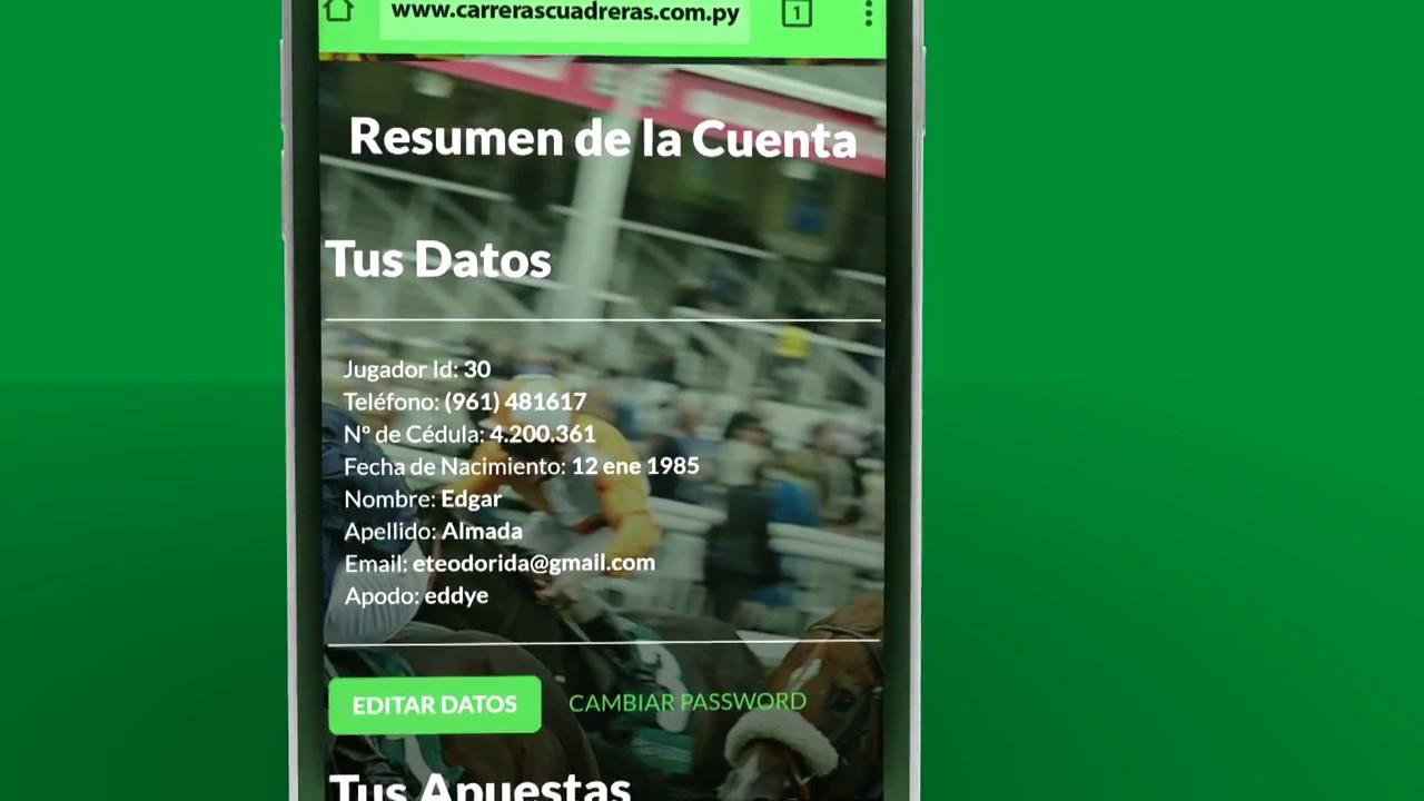 Carreras Cuadreras Py - Pagina Web de Apuestas Online - YouTube