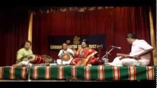 Parivadini Live- Vizianagaram D.Vardhani-Vocal @ Sarvani Sangeetha Sabha 28 Oct 2014