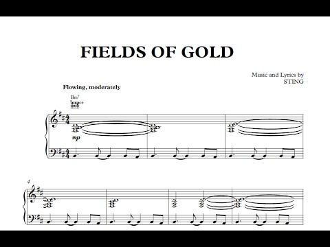 Fields of Gold - Sting [Sheet Music and Midi Download] - YouTube