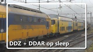 Bijzonder! DDZ met DDAR op sleep door Uitgeest!