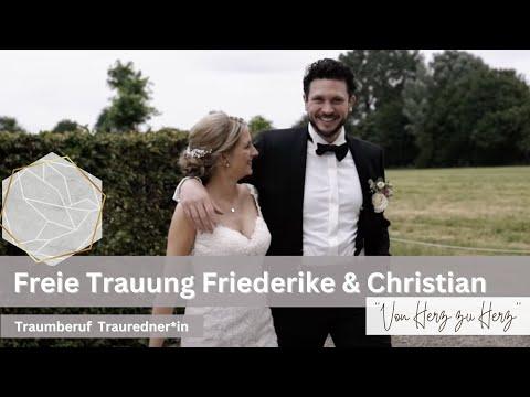 Freie Trauung von Friederike & Christian | Die Trauung - Freie Hochzeitsredner
