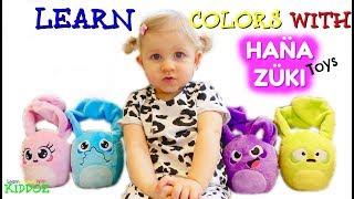 Learn Colors With HANA ZUKI Toys & Wheels On The Bus NURSERY RHYME