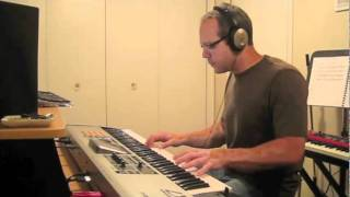Jump Van Halen Keyboard Solo, note for note with backing track