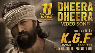 Dheera Dheera Full Video Song | KGF Malayalam Movie | Yash | Prashanth Neel | Hombale Films