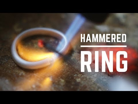 How to make a ring - from start to finish. Handcrafted silver ring.