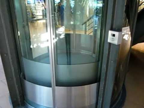 Schindler hydraulic glass elevator at Hamburg airport
