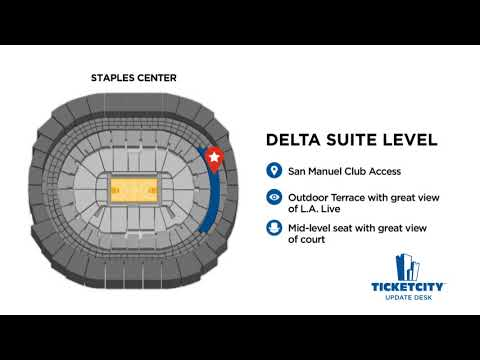 Staples Center Seat Recommendations - The TicketCity Update Desk