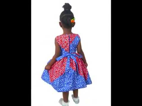 3 African Print Party Wear Dresses for Little Girls to Have