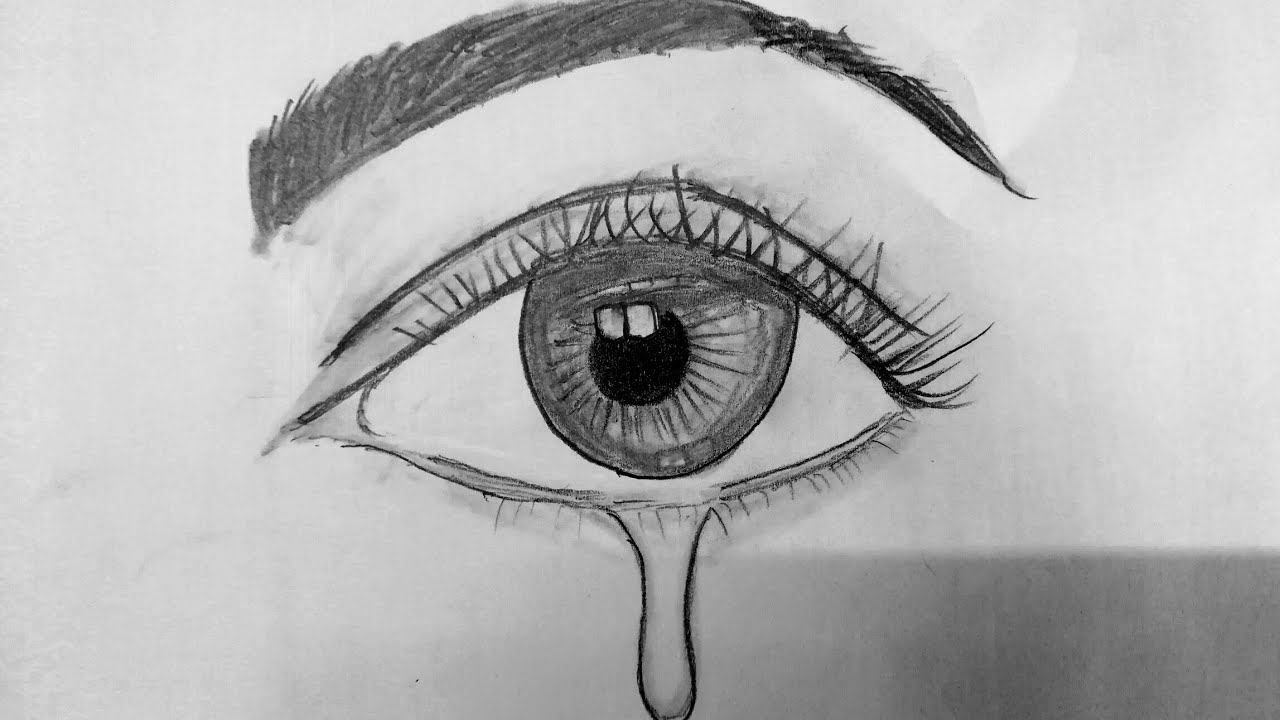 How To Draw Eye's With Tear Drop,How to Draw, Step by Step ...
