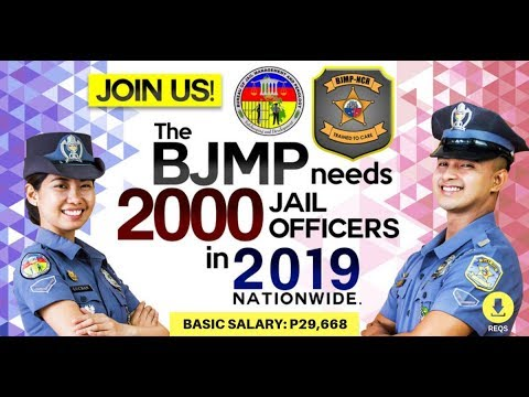 2019 BJMP Hiring: 2000 Jail Officers with Basic Salary of PhP 29,668.00