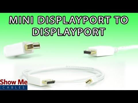 Mini DisplayPort to DisplayPort Cable - High Performance Signal Quality