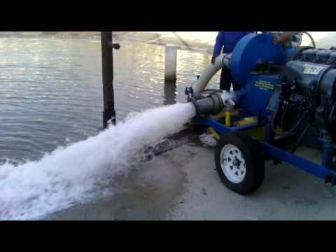 6 inch sand gravel pump test