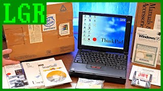 $4,000 Laptop From 1997: Unboxing a NEW IBM ThinkPad 380ED!