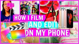 How I Film and Edit on My Phone +Color Correcting, Moving Overlays, and Endslates(Here it is!! The video you have all been waiting for!! Haha!! So in this video I will be showing you how I film and edit my videos on my phone!!! I will be showing ..., 2016-04-16T13:34:57.000Z)