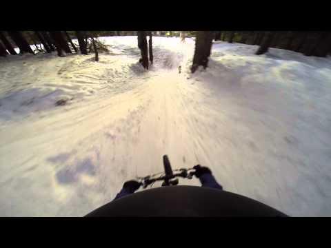 Snowy MTB in Avoriaz - Gopro biking