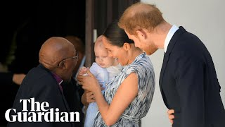 Prince Harry and Meghan bring son Archie to meet Desmond Tutu