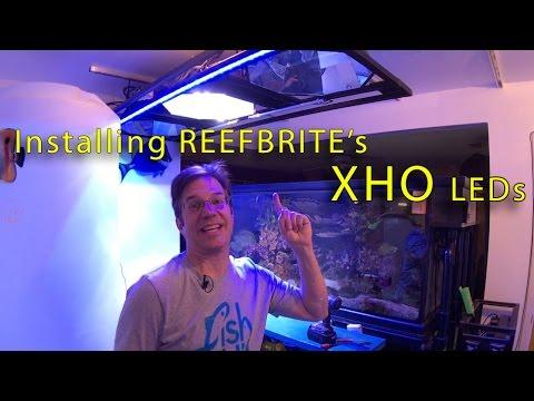 Installing ReefBrite XHOs LED lighting