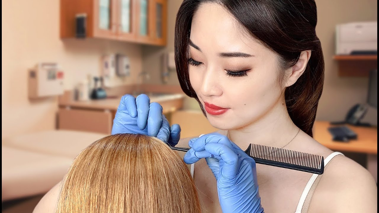 Download [ASMR] Doctor Scalp Exam and Aloe Treatment