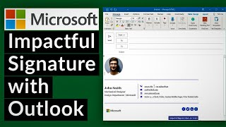Add email signature iฑ outlook 2020 | Change signature in outlook office 365