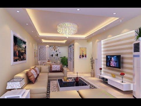 desain dekorasi ruang tamu dari gypsum - youtube