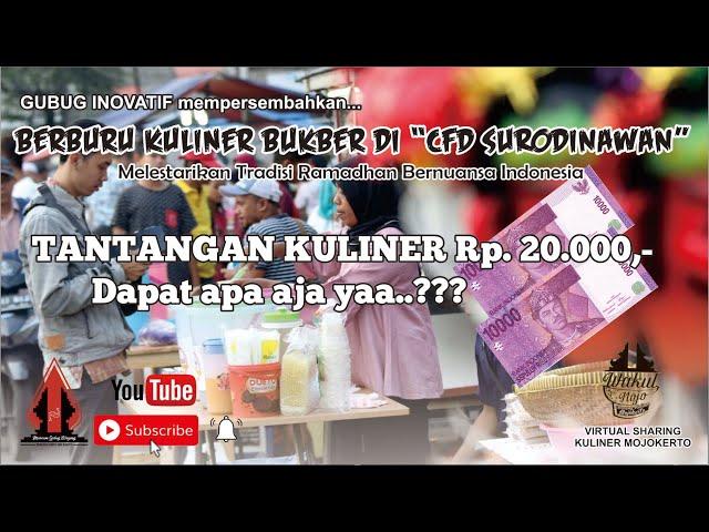 BERBURU KULINER BUKBER di CFD SURODINAWAN Season 1 - Gubug Kuliner Eps.20    Mojokerto