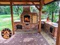 Zahradní krb s udírnou - stavba / DIY building outdoor fireplace with smoker and grill
