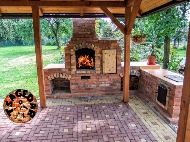 Diy Outdoor Fireplace With Bbq Grill, How To Build An Outdoor Fireplace With Bricks
