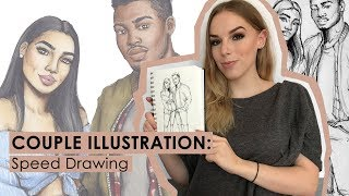 COUPLE ILLUSTRATION: Speed Drawing
