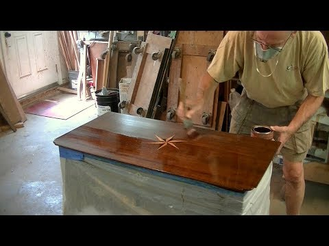 Refinishing a Compass Inlay Table Top - Thomas Johnson Antique Furniture Restoration