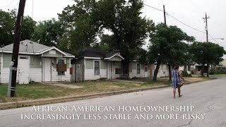 African-American homeownership increasingly less stable and more risky