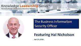 The Business Information Security Officer: Methodologies and Process Workflows