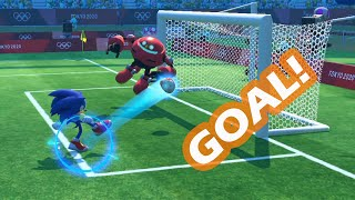 Mario and Sonic at the Tokyo 2020 Olympic vs  At the Rio 2016 Olympic Games Football