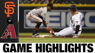 Giants vs. D-backs Game Highlights (8/3/21)