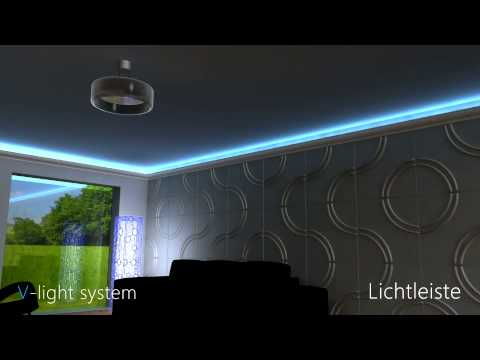 led lichtleiste direkte und indirekte beleuchtung youtube. Black Bedroom Furniture Sets. Home Design Ideas
